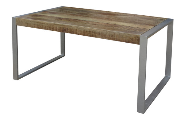 Reclaimed Wood Dining Table with Silver Metal Legs Timbergirl