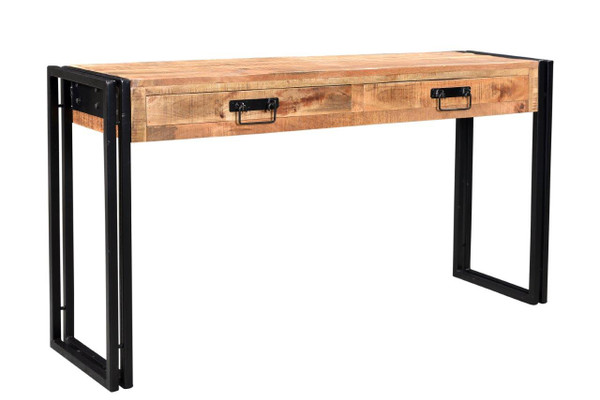 Timbergirl reclaimed mango wood console table with metal
