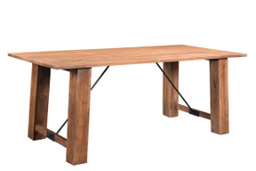 Timbergirl Angled Acacia wood Dining Table - 80""