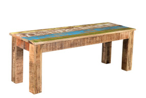 Timbergirl Suman Rustic Multicolor Bench - 60""