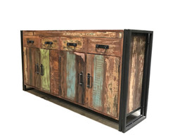 Timbergirl Old Reclaimed Wood 4 Door 4 Drawer Sideboard