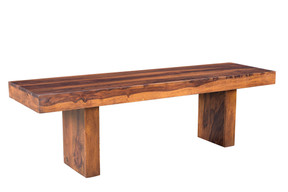 Timbergirl Solid Seesham Wood Entryway Bench