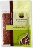 Gourmet Organic Chilli Flakes 20g Sachet x 1