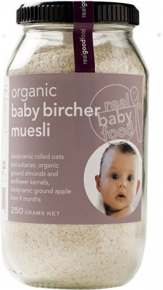 Real Good Food Organic Baby Bircher Muesli 250g. Biodynamic rolled oats.