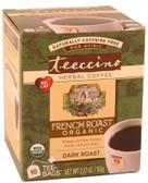 Teeccino French Roast Herbal Coffee 10 Tee-Bags
