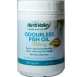 Herb Valley Fish Oil Odourless 1500mg 400caps