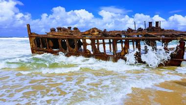 Fraser Island Travel photo of maheno ship