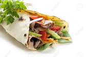Roast Beef and Salad Wholegrain Wrap.