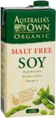 Australia's Own Malt Free Soy Drink Org 1Lt x12