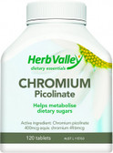 Herb Valley Chromium Picolinate 400mlcg 120tabs