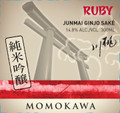 Momokawa Ruby Junmai Ginjo Sake 750ml