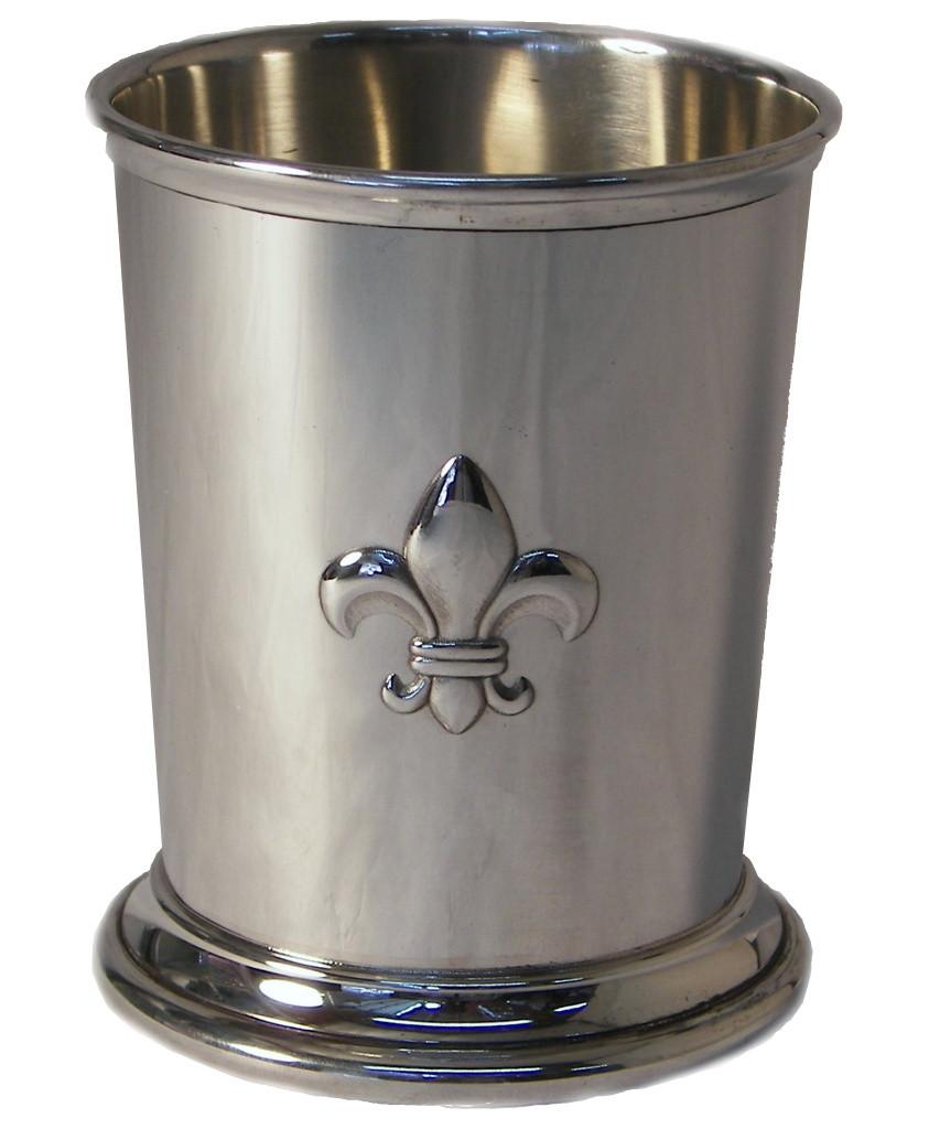 Mint Julep -Fleur-de-lis,Fine English Pewter,Boxed,New