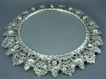 Mirror Plateau - Round, Rococo