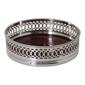 Wine Coaster - Ring Design English Silver Plate