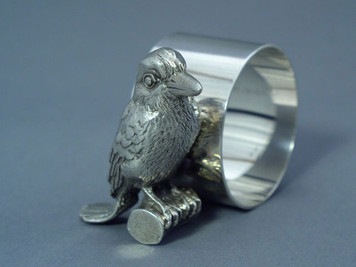 Kingfisher Figural Napkin Ring