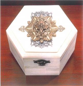 Unique Hexagon Bone Box by Jo Marz