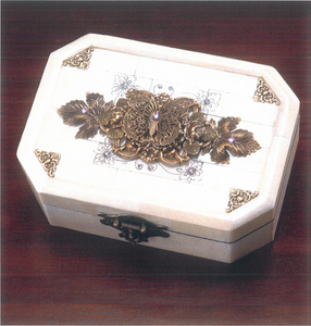 Beautiful Butterfly Bone Box with Crystals