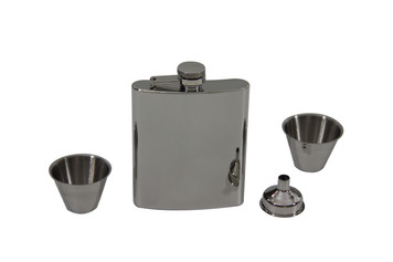 7oz Flask Set with Funnel & 2 Cups