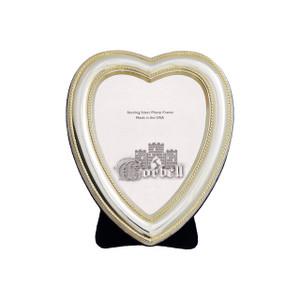 Frame Beaded Heart Design Sterling w/ Velvet Back