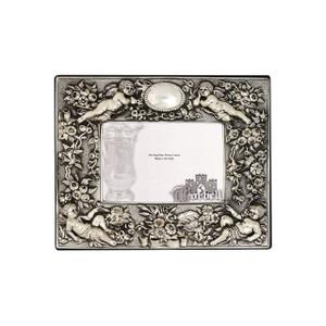 Frame Cherubs Horizontal Sterling Silver w/ Velvet Back 4 x 6