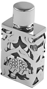 Silver lace design perfume bottle supplied with funnel (GT404)                 -  0.6cl (0.2 fl/oz)