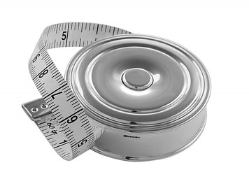 Push button tape measure in centimetres and inches