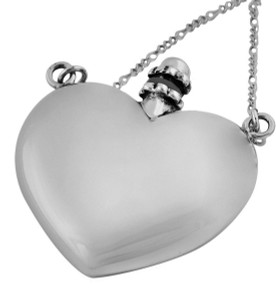 "Heart shape perfume bottle on 66cm / 26"" chain supplied with funnel (GT404)          -  0.3cl (0.1 fl/oz)"