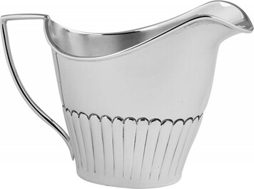 Queen Anne style 3 piece teaset;teapot;cream;sugar