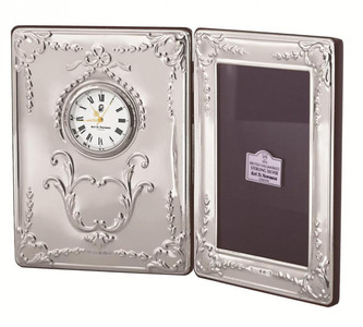 Victorian pattern clock and frame with mahogany finish back