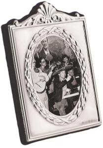 Miniature Victorian velvet back photo frame