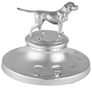 Feature hallmark dog motif paper weight