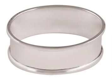 Plain large oval napkin ring