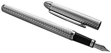 Engine turned wave design fountain pen