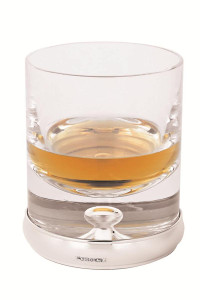 Glass tumbler with mounted silver base                                                   -  27cl (9 fl/oz)