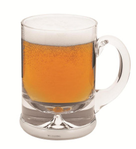 Beer glass with mounted silver base                                                        -  48cl (16 fl/oz)