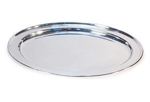 """16"""" No Name Hotel Silver Platter"""