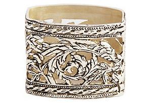 Silver-Plated Rectangular Napkin Ring