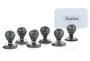 Golf Ball Place Card holders S/6