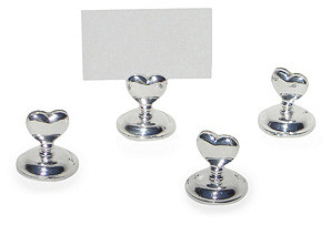 Heart Place Card Holders S/4