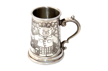 Childs Mug 3 bears Fine English Pewter