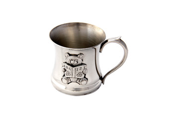 Concave Teddy Fine English Pewter Childs Mug