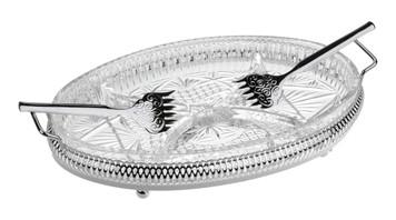 Oval Hors d'oeuvre/Side Handles/Forks