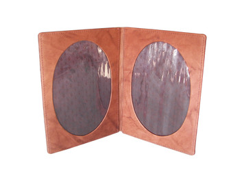 Double Leather Photo Frame