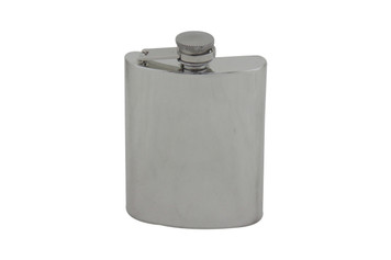 Bayonet Hinged English Pewter 6oz Flask