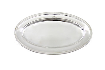 """The Connaught Hotel Silver 15"""" Oval Platter Post 1960"""