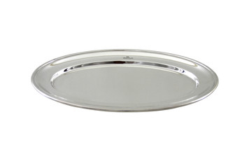 """The Connaught Hotel Silver 12.5"""" Oval Platter Post 1960"""
