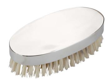 English Pewter Military Hair Brush