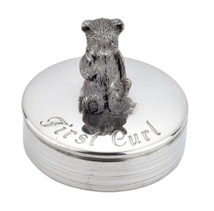 Baby First Curl Round Box with Bear Design
