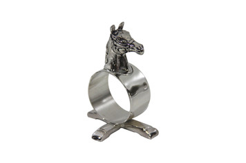 Silver Plated Napkin Ring Horse Head