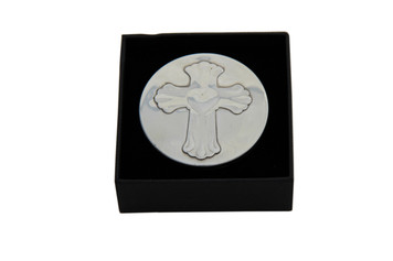 Box with Cross Pewter